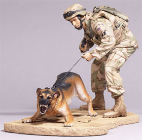 McFarlane's Military Series 3 Air Force Security Forces K9 Handler Air Force Action Figure