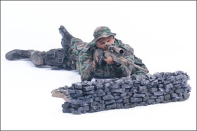 McFarlane's Military Redeployed Marine Corps Recon Sniper - Military Toy