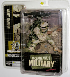 McFarlane's Military Series 1 Army Ranger African American toy soldier